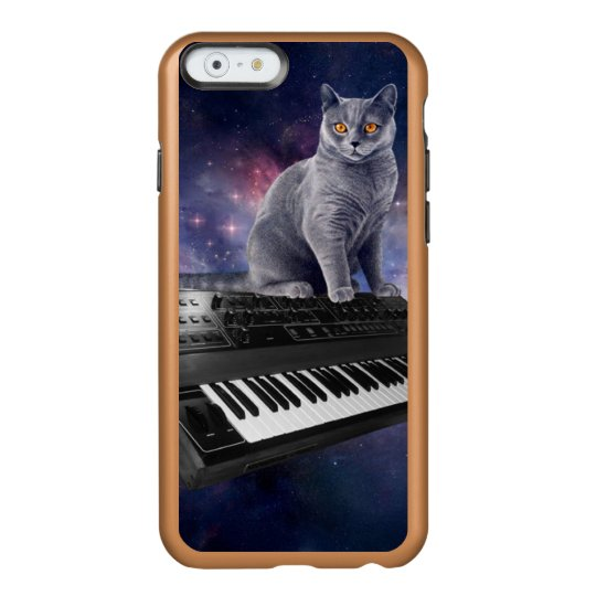 keyboard cat - cat music - space cat incipio feather® shine iPhone 6 case