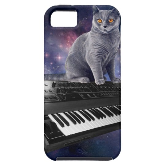 keyboard cat - cat music - space cat iPhone 5 case