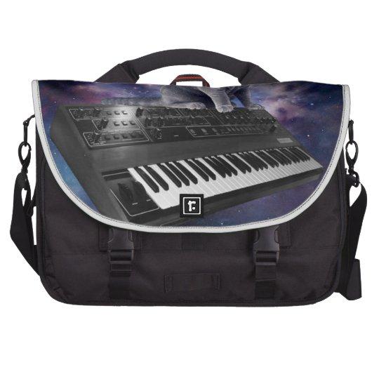 keyboard cat - cat music - space cat laptop bags