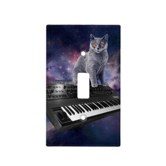 keyboard cat - cat music - space cat light switch cover