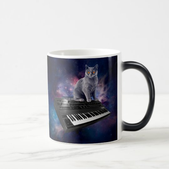 keyboard cat - cat music - space cat magic mug