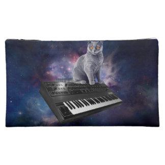 keyboard cat - cat music - space cat makeup bag