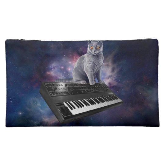 keyboard cat - cat music - space cat makeup bags