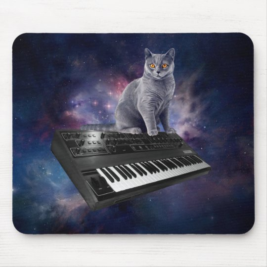 keyboard cat - cat music - space cat mouse pad