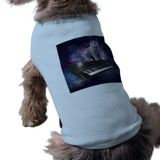 keyboard cat - cat music - space cat shirt