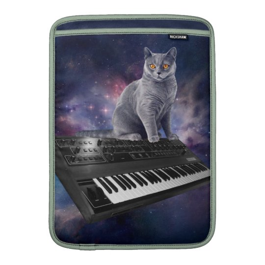 keyboard cat - cat music - space cat sleeve for MacBook air