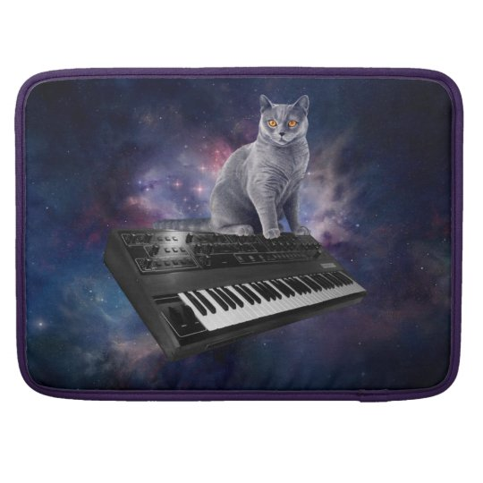 keyboard cat - cat music - space cat sleeve for MacBooks