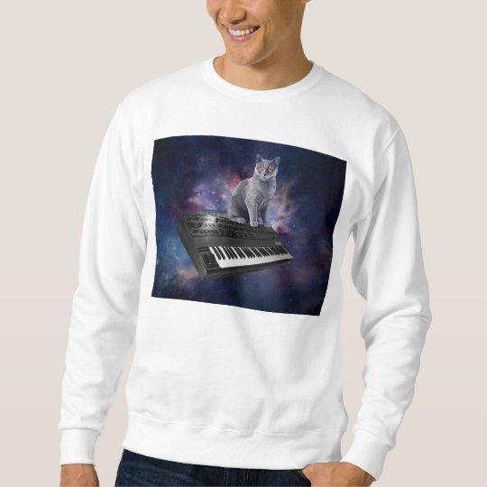 keyboard cat - cat music - space cat sweatshirt
