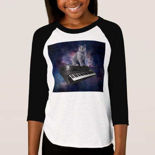 keyboard cat - cat music - space cat T-Shirt