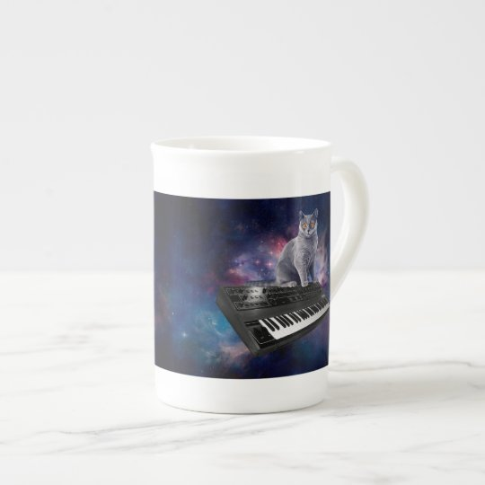 keyboard cat - cat music - space cat tea cup