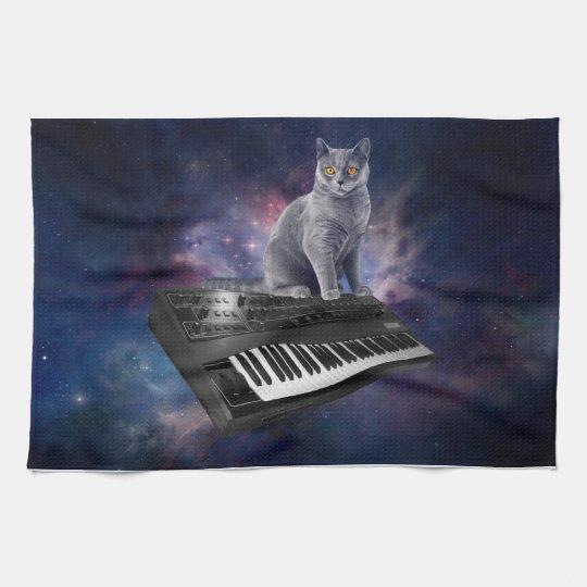 keyboard cat - cat music - space cat towel
