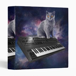 keyboard cat - cat music - space cat vinyl binders