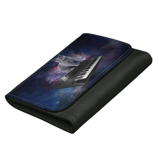 keyboard cat - cat music - space cat wallets for women
