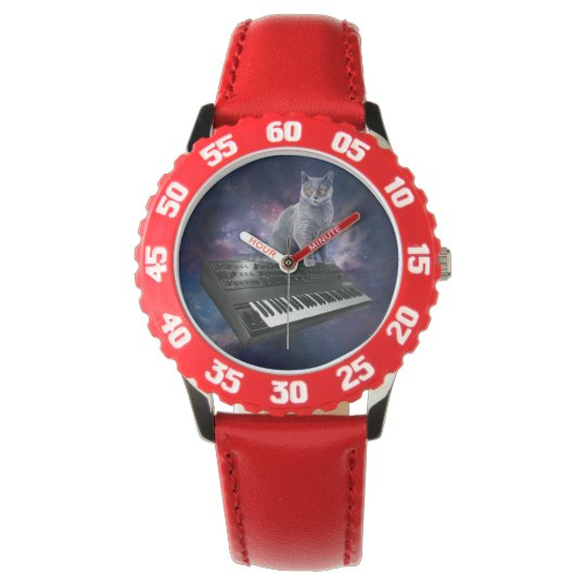 keyboard cat - cat music - space cat wrist watches