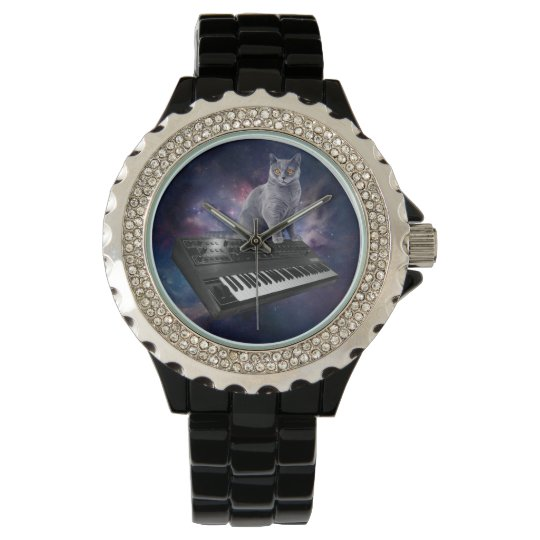 keyboard cat - cat music - space cat wristwatches