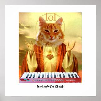 Keyboard Cat Church Poster