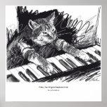 keyboard Cat Drawing Poster