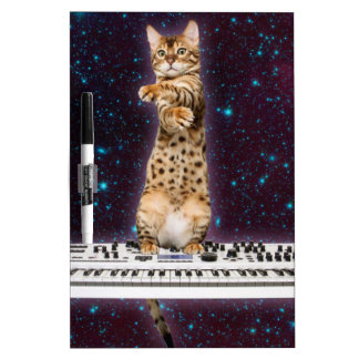 keyboard cat - funny cats  - cat lovers dry erase board