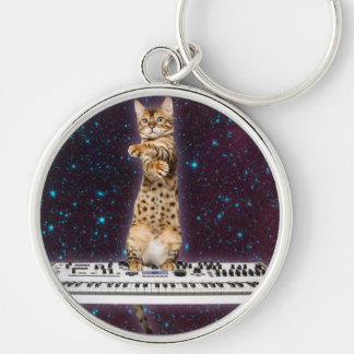 keyboard cat - funny cats  - cat lovers keychain