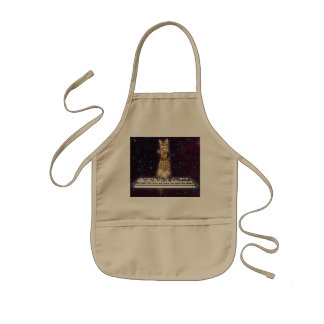 keyboard cat - funny cats  - cat lovers kids apron
