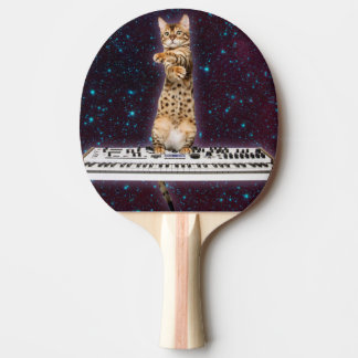 keyboard cat - funny cats  - cat lovers ping pong paddle