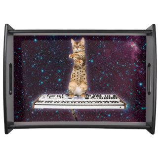 keyboard cat - funny cats  - cat lovers serving tray