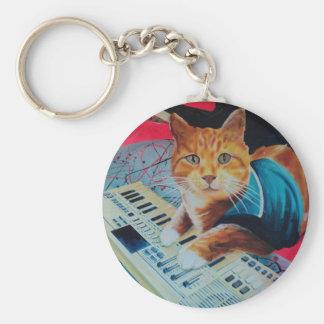 Keyboard Cat Painting Gear Keychain