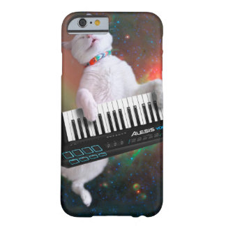 Keyboard cat - space cat - funny cats - galaxy cat barely there iPhone 6 case