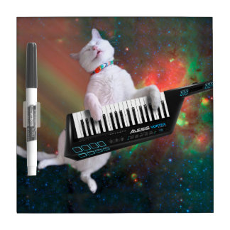 Keyboard cat - space cat - funny cats - galaxy cat dry erase board