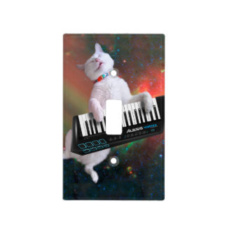 Keyboard cat - space cat - funny cats - galaxy cat light switch cover