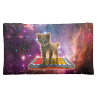 keyboard cat - tabby cat - kitty cosmetic bag