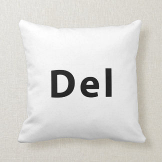 Keyboard - Del Throw Pillow