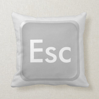 Keyboard Escape Key Throw Pillow