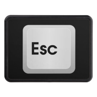 Keyboard Escape Key Trailer Hitch Cover