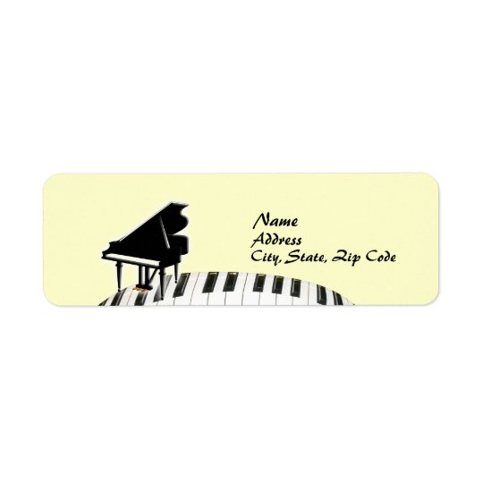 Keyboard Grand Piano Label Return Address Label