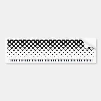 Keyboard Grunge Bumper Sticker