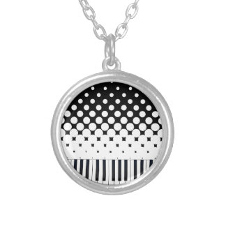 Keyboard Grunge Silver Plated Necklace