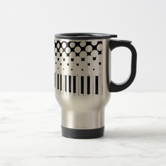 Keyboard Halftone Travel Mug