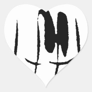 Keyboard Heart Sticker