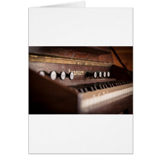 Keyboard Instrument Music Old Antique Poland Card