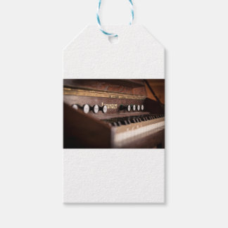 Keyboard Instrument Music Old Antique Poland Gift Tags