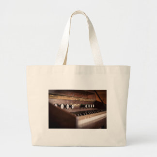 Keyboard Instrument Music Old Antique Poland Large Tote Bag