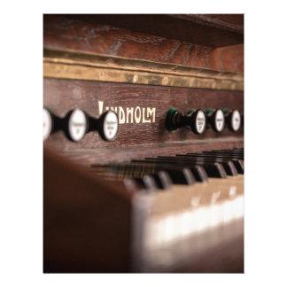 Keyboard Instrument Music Old Antique Poland Letterhead
