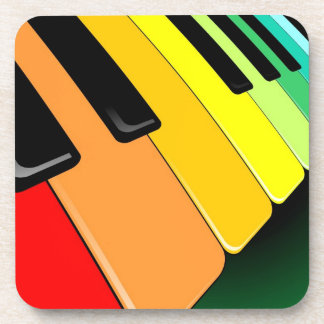 Keyboard Music Party Colors Coaster