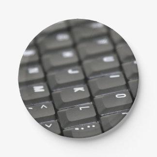 Keyboard Paper Plate