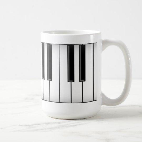 Keyboard / Piano Keys: Coffee Mug