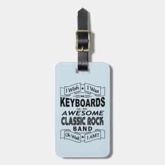 KEYBOARDS awesome classic rock band (blk) Luggage Tag