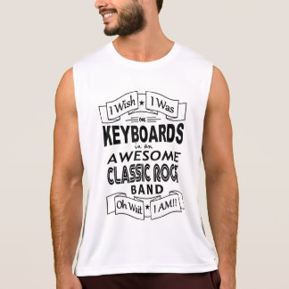 KEYBOARDS awesome classic rock band (blk) Tank Top