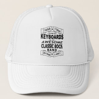 KEYBOARDS awesome classic rock band (blk) Trucker Hat
