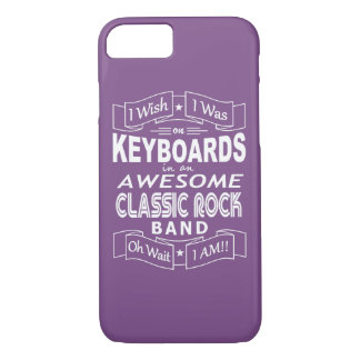 KEYBOARDS awesome classic rock band (wht) Case-Mate iPhone Case